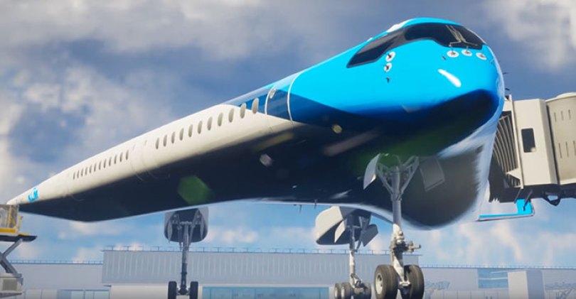 new shape flying v plane studio oso 3 5cf6192718e21  700 - Avião de passageiros projetado por estudante economiza 20% de combustível