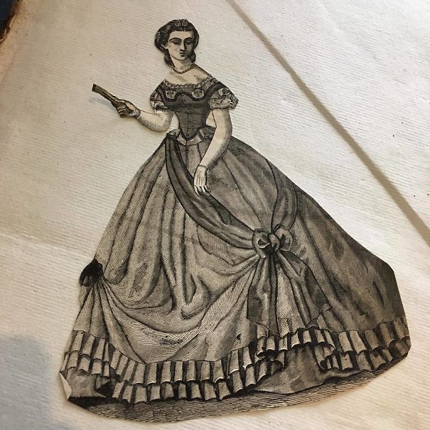 We Found This Lovely Lady In A Book We Listed Yesterday. She Has Been Trimmed From A 19th Century Women's Periodical Or Magazine