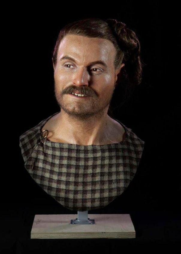 Un hombre que vivió en la Edad del Hierro en Gran Bretaña