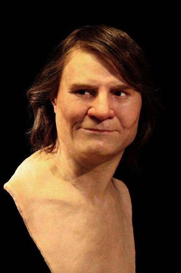 El hombre medieval de mediana edad del medio de Suecia está terminado