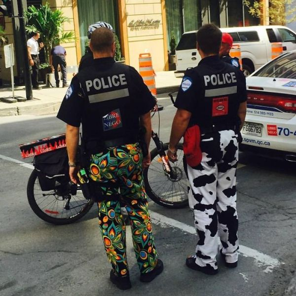 Police In Montreal Are Protesting A Labor Dispute By Not Wearing Their Work Pants