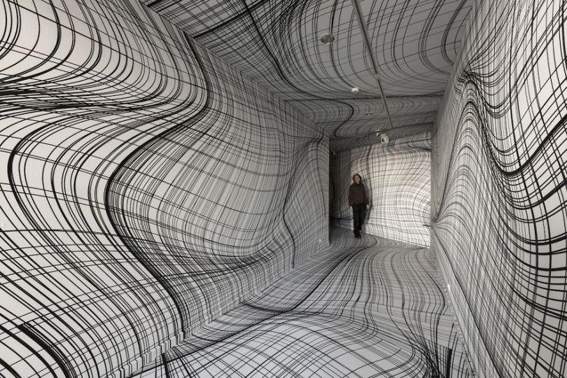 Peter Kogler 2016 Brussels 5d494ea7bbb86  880 - Mestre de instalação de arte e ilusões cria quartos hipnóticos