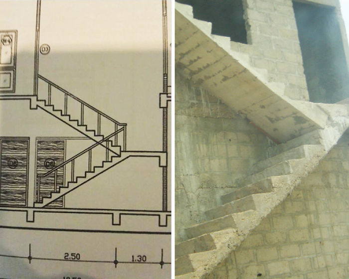 Built The Staircase Exactly As Designed, Boss