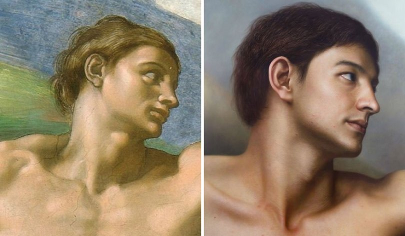 Artist makes hyperrealistic portraits with acrylic painting giving life to busts and antique paintings 5d76414fb5b5c  880 - Parece Real: Pintor sul-coreano faz obras hiper-realistas chocantes!