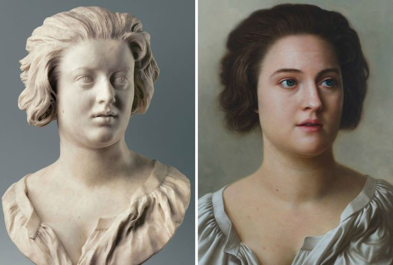 Artist makes hyperrealistic portraits with acrylic painting giving life to busts and antique paintings 5d764152f3266  880 - Parece Real: Pintor sul-coreano faz obras hiper-realistas chocantes!