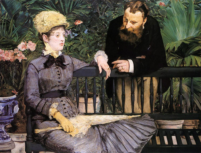 Dappled Light And Unhappy Party-Time People, Then It's Manet