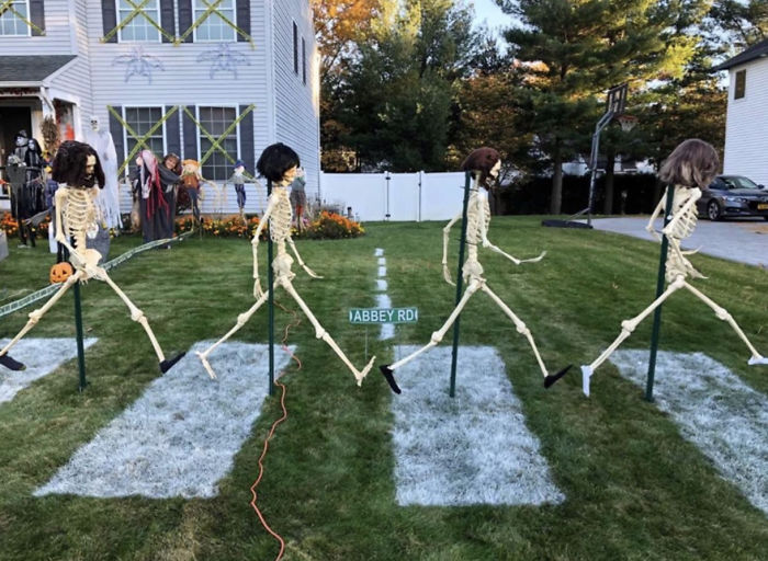 "My Friend's Decorations To Celebrate Halloween And The 50th Anniversary Of The Beatle's ""Abbey Road"" Album"