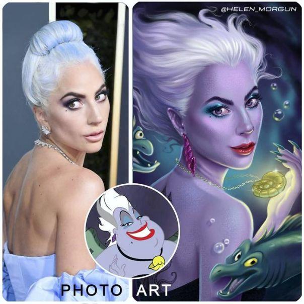 Lady Gaga As Ursula From Little Mermaid