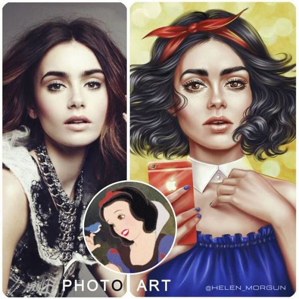 Lily Collins As Snow White