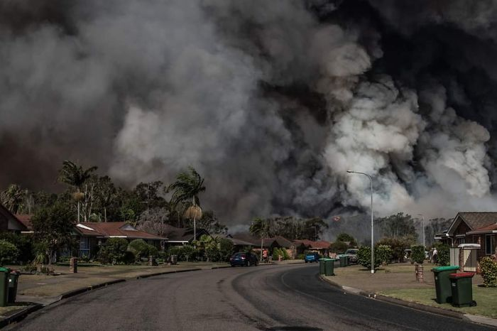 A Picture One Of The Local Postmen Took From His Front Yard. This Was In Forster