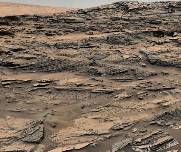 Curiosity Took Dozens Of Mast Cam Images To Complete This Mosaic Of A Petrified Sand Dune
