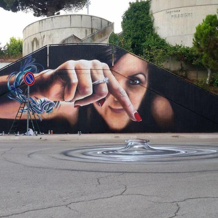Этот уличный исполнитель украшает стены и пустые пространства своего города с помощью потрясающего 3D-искусства.