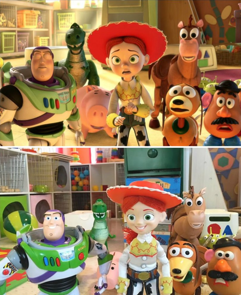 """Two brothers completely remake Toy Story 3 with real toys in 8 years 5e31391b3b1b1  880 - Inacreditável! Irmãos recriaram o """"Toy Sotry 3"""" durante 8 anos"""