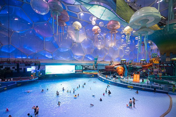 The Building Used For The Swimming Events At The 2008 Summer Olympics In Beijing Was Transformed Into This Dope-Looking Waterpark