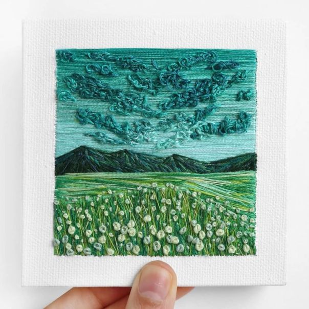 I Use Embroidery To Create Unique Landscapes