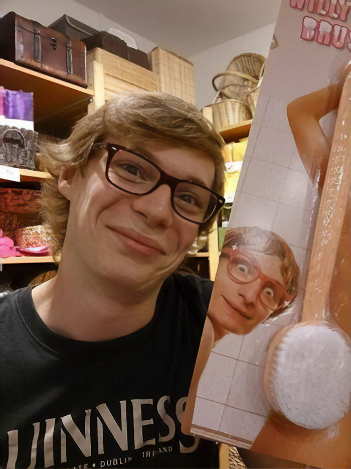 """Found My Doppelganger In Poland, Unfortunately It Was On A """"Willy Brush"""""""
