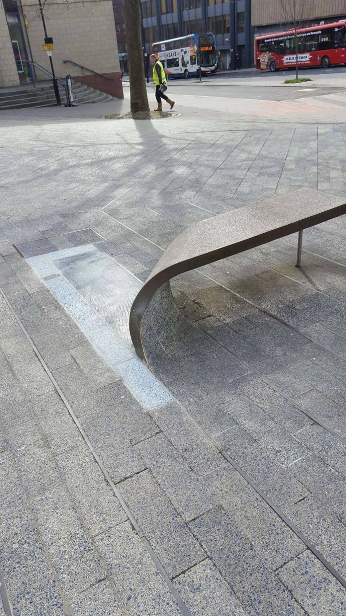 This Bench Is Made From A Curled-Up Paving Stone