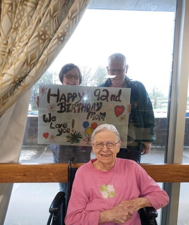 Dorothy Didn't Let Social Distancing Stop Her From Celebrating Her 92nd Birthday With Her Loved Ones. Happy Birthday, Dorothy