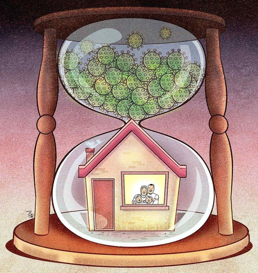 Iranian Artist Makes Impactful Cartoons To Reflect On The Coronavirus