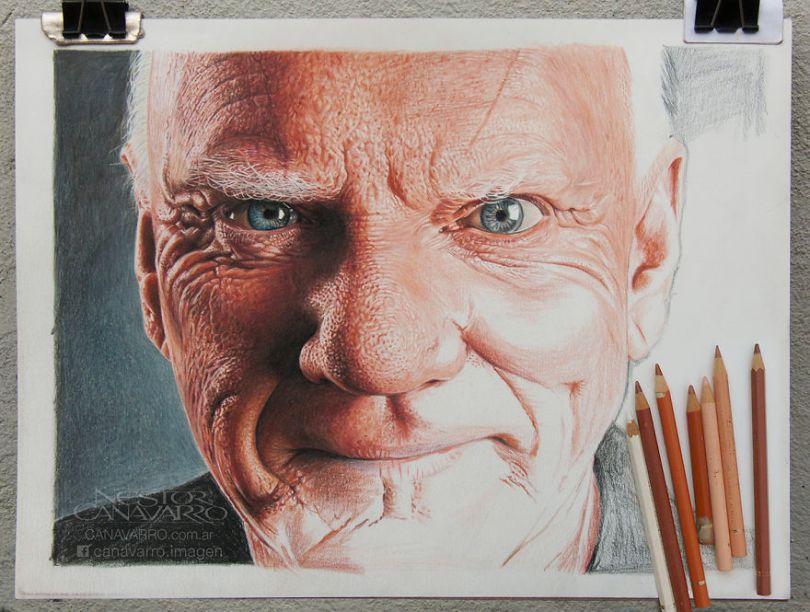More Hyper Realistic Colored Pencil Drawings 5e78ae628f8b6  880 - Os desenhos hiper realistas de Nestor Canavarro