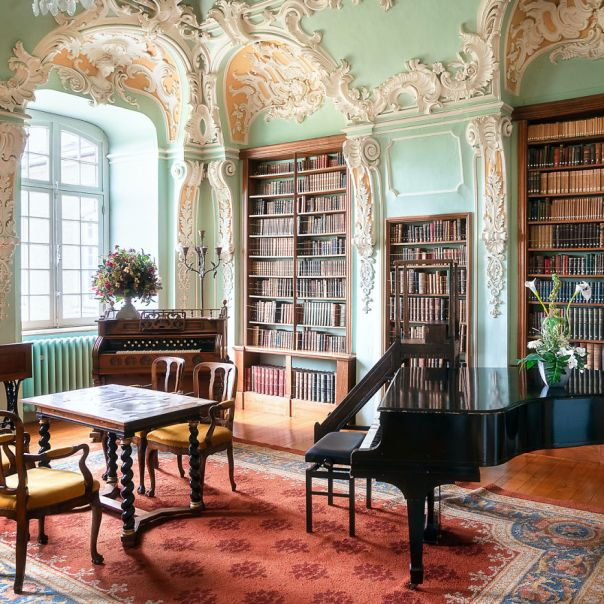 Rococo Library Built In The 18th Century