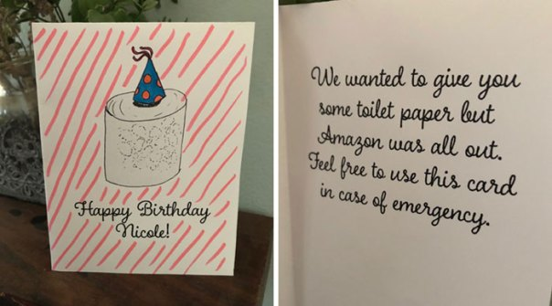 My Sister's Birthday Is On Wednesday So I Made Her A Quarantine Card