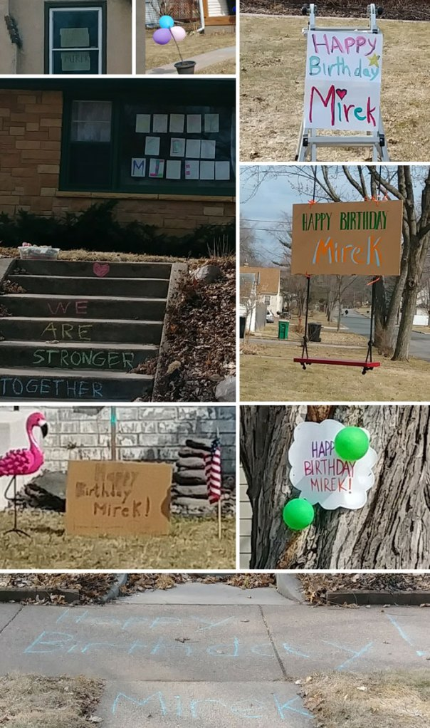 Entire Neighbrohood Came Together To Wish One Kid A Happy Birthday Despite Not Being Allowed To Have Parties