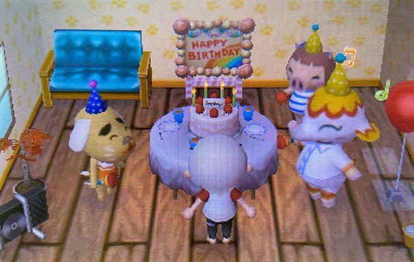 Can't Celebrate My Birthday IRL Because Of The Quarantine, So Shed Some Happy Tears When I Turned On My Game This Morning And My Villagers Threw Me A Party