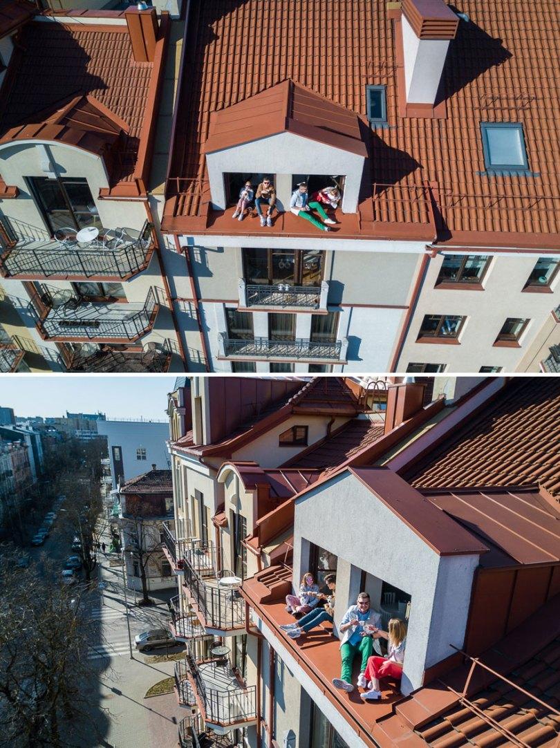 drone photography quarantine portraits coronavirus lithuania adasvasiliauskas 5 5e79db18d2d22  880 - Fotógrafo da Lituânia consegue trazer diversão durante a Quarentena