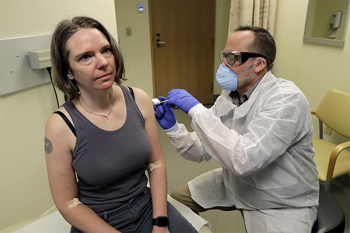 Jennifer Haller, The First Person In The World To Be Injected With The Experimental Vaccine For The Covid-19