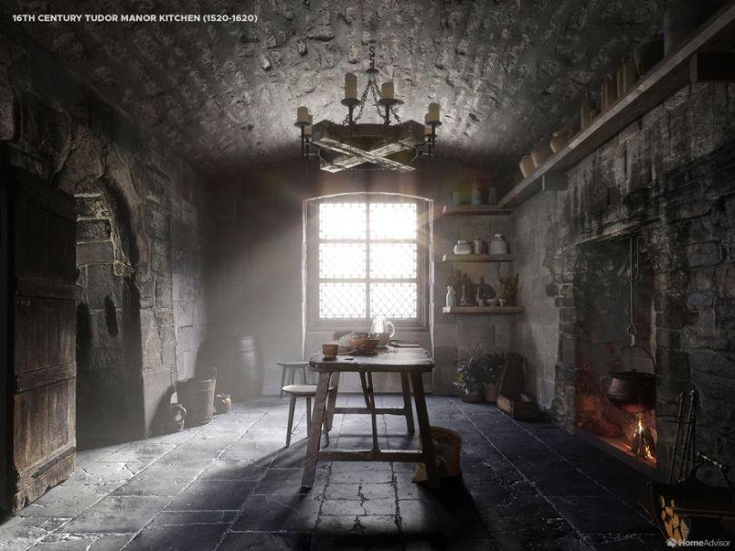 01 1500s kitchen 5e8c98a17d511  880 - Cozinha refeita digitalmente mostra evolução de 500 anos