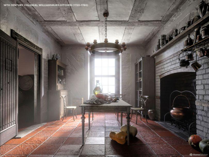 03 1700s kitchen 5e8c98fe10d16  880 - Cozinha refeita digitalmente mostra evolução de 500 anos