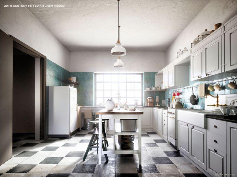 05 1900s kitchen 5e8c993f0dce1  880 - Cozinha refeita digitalmente mostra evolução de 500 anos