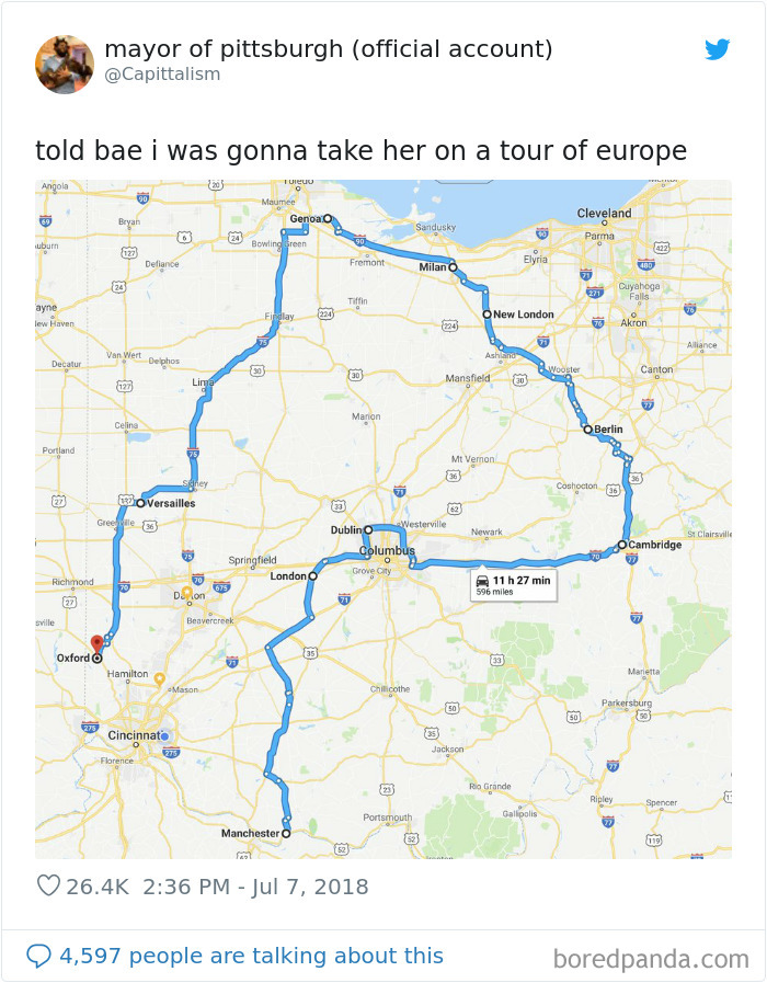 This Person, Who Took His Girlfriend To All The World-Class Cities Of Ohio