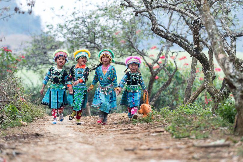 Crianças Moc Chau Vietnam