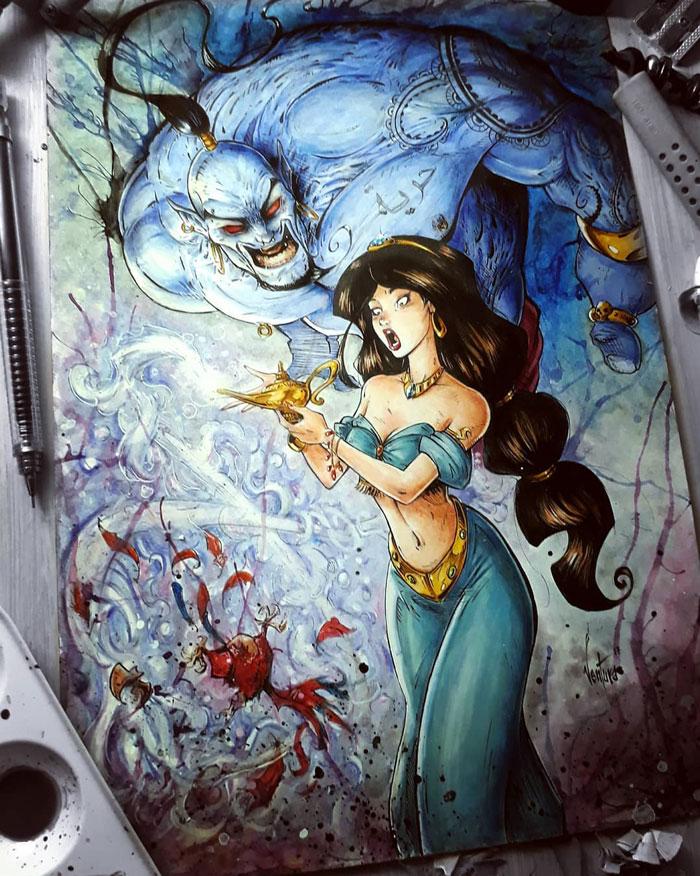 Princess Jasmine & The Genie