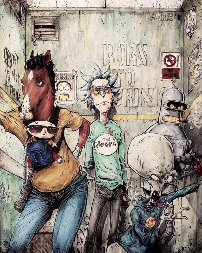 Bojack, Rick, Bender, & Others