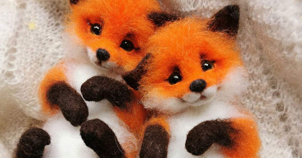 Russian Artist Creates Adorable Mini Felt Animals And Here Are 45 Of The Best Ones