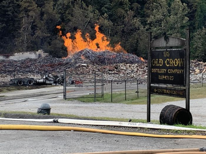 Jim Bean Wearhouse Fire That Was Left To Burn Through 45 Thousand Barrels Of Whiskey To Avoid Runoff Into Nearby Water Sources