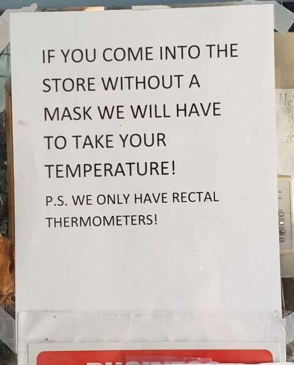 """21 Businesses That Got Rid Of Their Polite """"Please Wear A Mask"""" Signs And Put Up New Ones As People Don't Listen"""