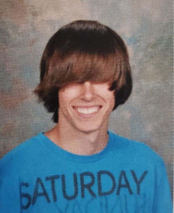 My Boyfriend's 10th Grade Picture Is Pure Rebellion. According To Him, His Mom Cried When She Received The Pictures Back