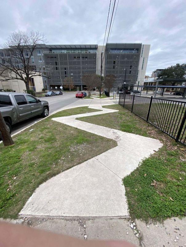 This Unnecessarily Zig-Zag'd Sidewalk