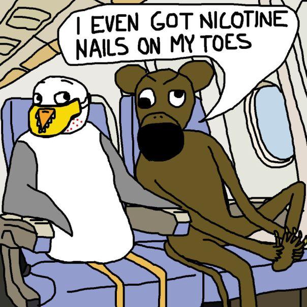 Broken Ape Is Not Who You Want To Sit Beside On A Long Haul Flight