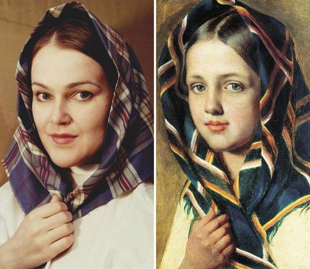 """Alexey Venetsianov """"Girl In A Scarf"""" (~1820)"""
