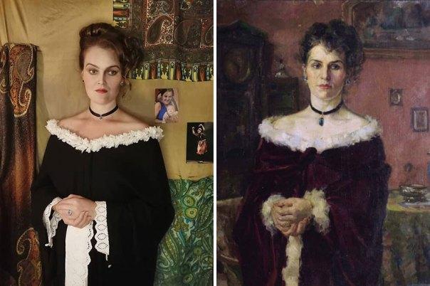"Khariton Platonovich Platonov ""Portrait Of A Woman"" (1903)"