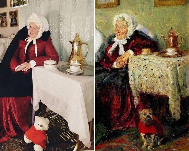 """Vladimir Makovsky """"Tete-A-Tete"""" (1909)"""