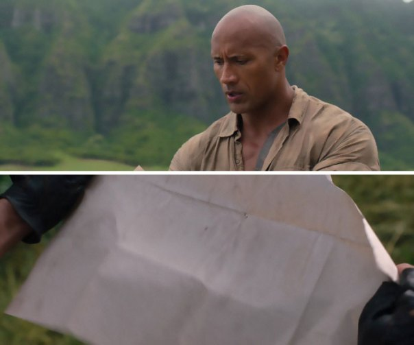 In Jumanji: Welcome To The Jungle (2017), Dwayne Johnson's Avatar Did Not Have The Power To Read The Map. This Is Because Paper Beats Rock