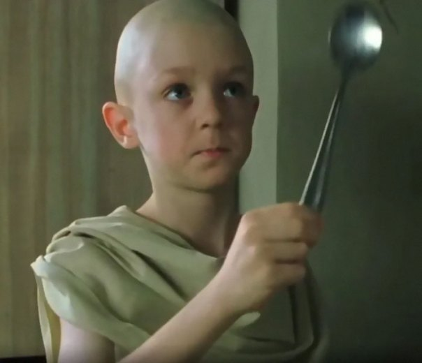 "In The Matrix, A Kid Tells Neo He Has To Realize ""There Is No Spoon"". However, If You Look Closely You Can Notice There Is A Spoon In The Scene"