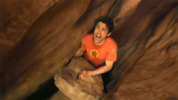In 127 Hours (2010) James Franco Is Seen Cutting Off His Arm To Free Himself From A Boulder Although In Real Life James Kept His Arm, This Is Because James Franco Is A Coward Who Can't Commit To A Roll
