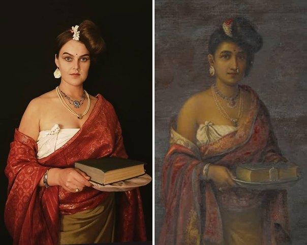 "Raja Ravi Varma ""The Maharani Of Travancore"" (1887)"